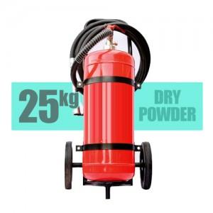 کپسول آتش نشانی پودر و گاز 25 کیلویی بالن بغل چرخدار