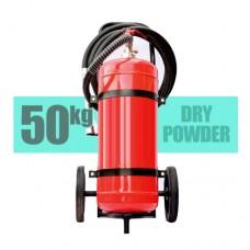 کپسول آتش نشانی پودر و گاز 50 کیلویی بالن بغل چرخدار