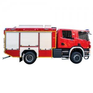 خودروی امداد و آتش نشانی ویس شاسی اسکانیا WISS Scania P360 4x4